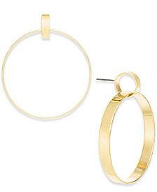 I.N.C. Gold-Tone Linked Drop Hoop Earrings, Created for Macy's