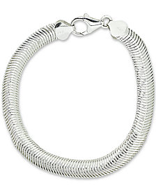 Giani Bernini Omega Link Bracelet in Sterling Silver, Created for Macy's