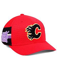 adidas Calgary Flames Hockey Fights Cancer Stretch Cap