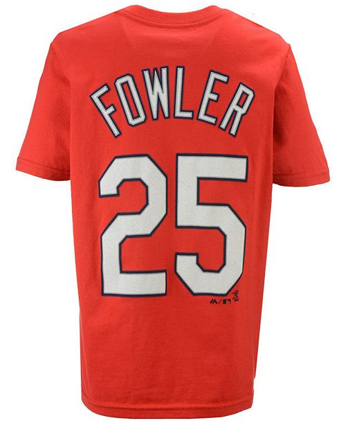 Majestic Dexter Fowler St. Louis Cardinals Official Player T-Shirt, Big Boys (8-20)