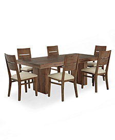 CLOSEOUT! Champagne Dining Room Furniture, 7 Piece Set, Created for Macy's, (Dining Trestle Table & 6 Side Chairs)