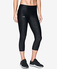 Under Armour Fly By HeatGear® Printed Running Capri Leggings