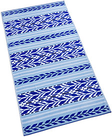 Martha Stewart Collection Arrow Stripe Cotton Geo-Print Beach Towel, Created for Macy's