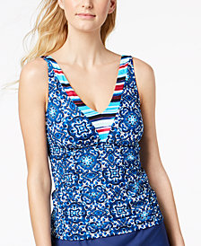 24th & Ocean Viva La Frida Printed Tankini Top