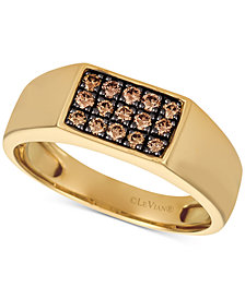 Le Vian Gents™ Mens Diamond Ring (3/8 ct. t.w.) in 14k Gold