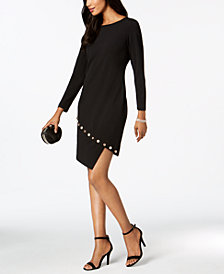 MSK Petite Asymmetrical Shift Dress