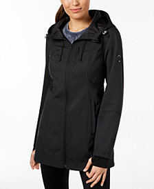 Nautica Printed Hooded Softshell Coat