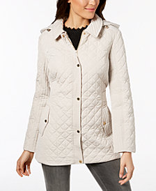 Jones New York Hooded Quilted Coat