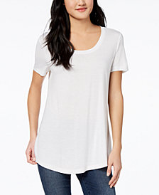 Maison Jules Scoop-Neck T-Shirt, Created for Macy's