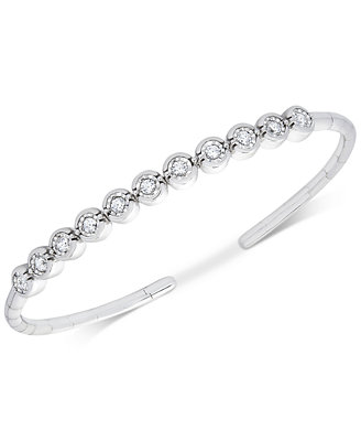 Diamond Bezel Bangle Bracelet (1/2 Ct. T.W.) by Macy's
