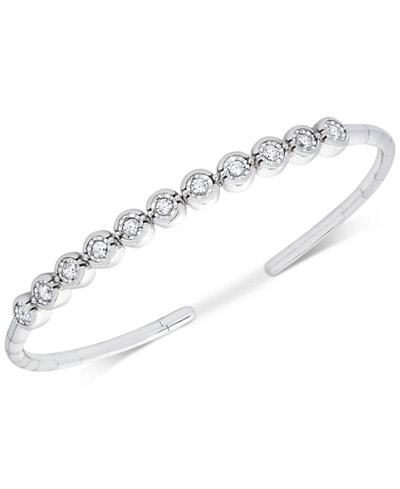 Diamond Bezel Bangle Bracelet (1/2 ct. t.w.)