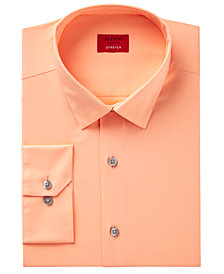 Alfani Men's Slim-Fit Stretch Solid Dress Shirt, Created for Macy's