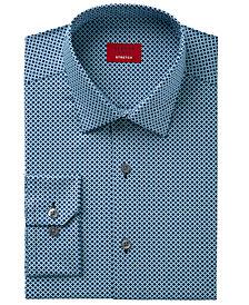 Alfani Men's Slim-Fit Stretch Circle Diamond Print Dress Shirt, Created for Macy's