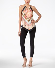 Thalia Sodi Halter Top & Skinny Pants, Created for Macy's