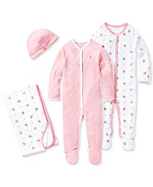 Ralph Lauren Baby Girls Pretty in Pink Ensemble