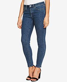 CeCe Dot-Print Skinny Jeans