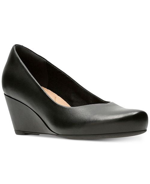 Clarks Collection Women's Flores Tulip Wedge Pumps