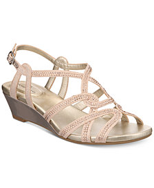 Bandolino Galtelli Embellished Slingback Wedge Sandals