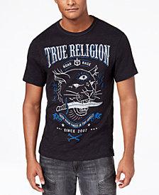 True Religion Men's Caged Panther Logo-Print T-Shirt