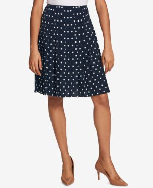Tommy Hilfiger Pleated Polka-Dot Skirt, Created for Macy's thumbnail