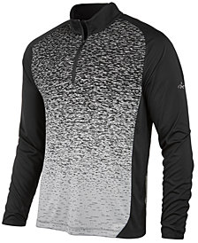 Greg Norman for Tasso Elba Men's Heathered Ombré Quarter-Zip Sweater, Created for Macy's