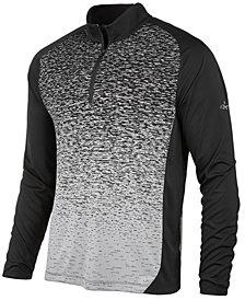 Greg Norman for Tasso Elba Men's Heathered Ombré Quarter-Zip Sweater, Created for Macy's