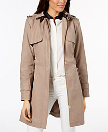 Cole Haan Signature Hooded Belted Trench Coat