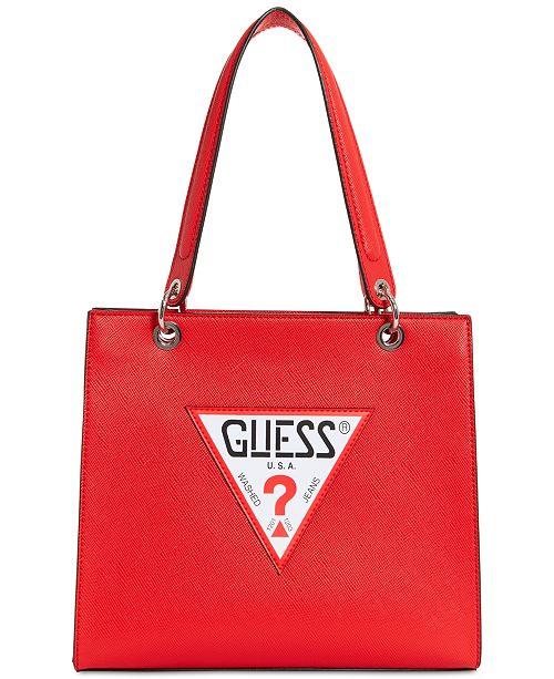 19f124460f2e GUESS Varsity Pop Logo Tote   Reviews - Handbags   Accessories ...
