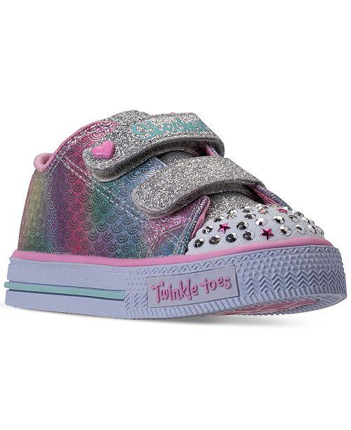 819737cd52ea ... Skechers Toddler Girls  Twinkle Toes  Shuffles - Ms. Mermaid Light-Up  Casual ...