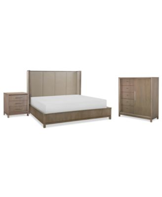 Rachael Ray Highline Bedroom Furniture, 3-Pc. Set (Upholstered Shelter Queen Bed, Chest & Nightstand)