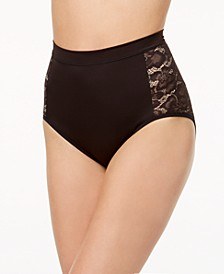 Women's  Firm Foundations Firm-Control High-Waist Lace-Panel  Brief DM1028