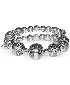 Filigree Bead Coil Bracelet in Sterling Silver