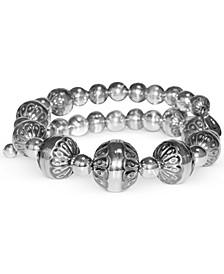 Filigree Bead Coil Bracelet in Sterling Silver