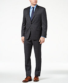 Lauren Ralph Lauren Men's Classic-Fit Ultraflex Gray/Blue Windowpane Suit