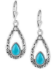 American West Turquoise Drop Earrings (2-5/8 ct. t.w.) in Sterling Silver