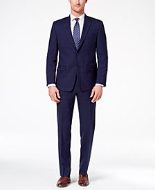 CLOSEOUT! Lauren Ralph Lauren Men's Classic-Fit Ultraflex Navy Double Windowpane Suit