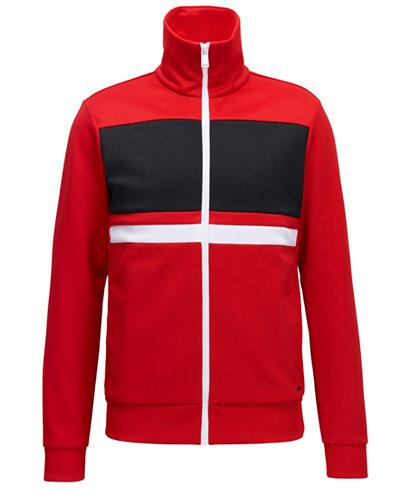 BOSS Men's Colorblocked Full-Zip Stretch Jacket