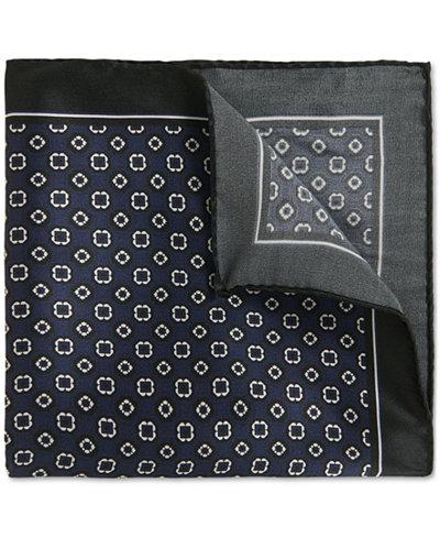 BOSS Men's Tile-Patterned Silk Pocket Square