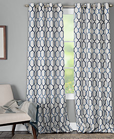 "Miller Curtains Alain 50"" x 84"" Geo-Print Energy-Efficient Window Panel"