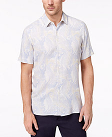 Tasso Elba Men's Paisley-Print Shirt, Created for Macy's