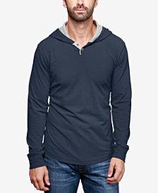Lucky Brand Men's Hooded Henley Sweatshirt