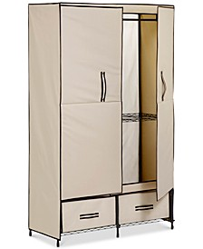 "Portable Wardrobe Storage Closet, 43"" Wide"