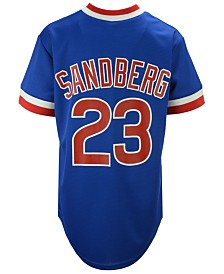 Majestic Ryne Sandberg Chicago Cubs Cooperstown Player Jersey, Big Boys (8-20)