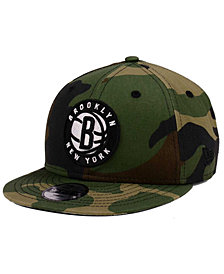 New Era Boys' Brooklyn Nets Woodland Team 9FIFTY Snapback Cap