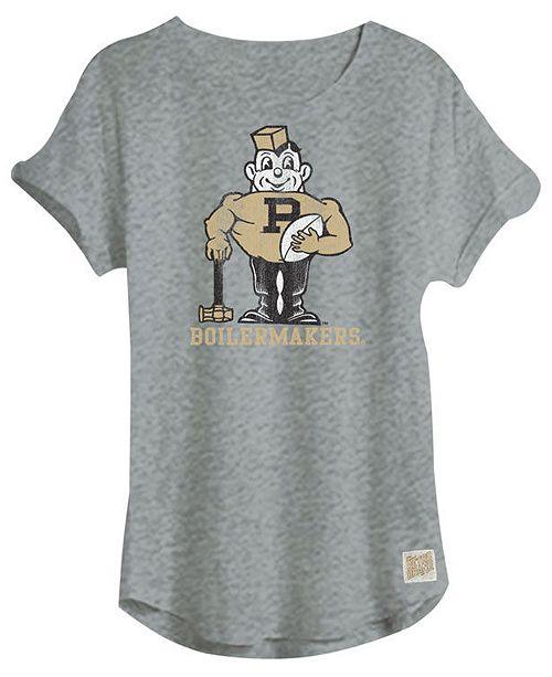 Retro Brand Women's Purdue Boilermakers Slub Rolled Sleeve T-Shirt
