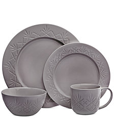Godinger Dublin Gray 16-Pc. Dinnerware Set, Service for 4