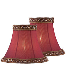 "Lite Source Set of 2 Clip-on 6"" Round Bell Chandelier Shade"