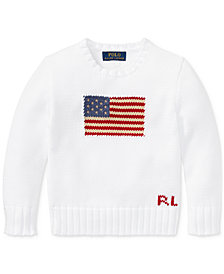 Ralph Lauren Graphic Cotton Sweater, Little Boys