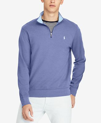 Polo Ralph Lauren Mens Luxury Half Zip Sweater Casual Button Down