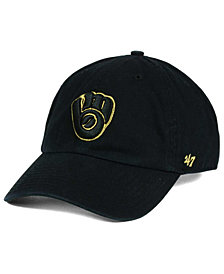 '47 Brand Milwaukee Brewers Metallic CLEAN UP Cap